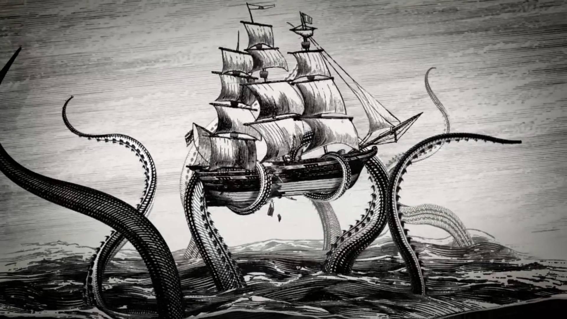 Vintage Kraken Illustration kraken-illustration
